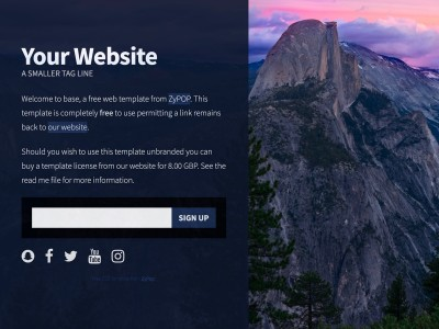 base Free web template