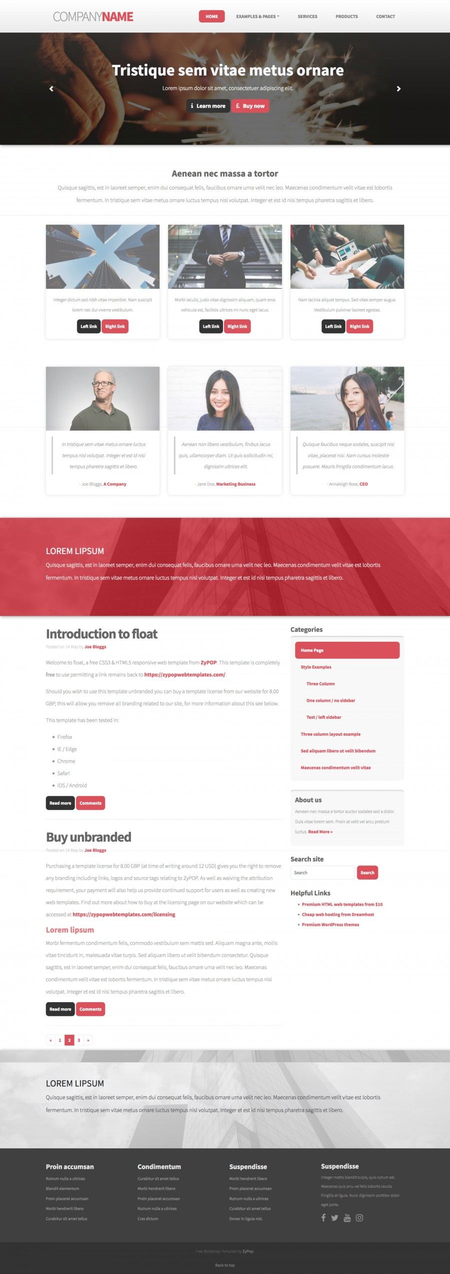 spark Free web template