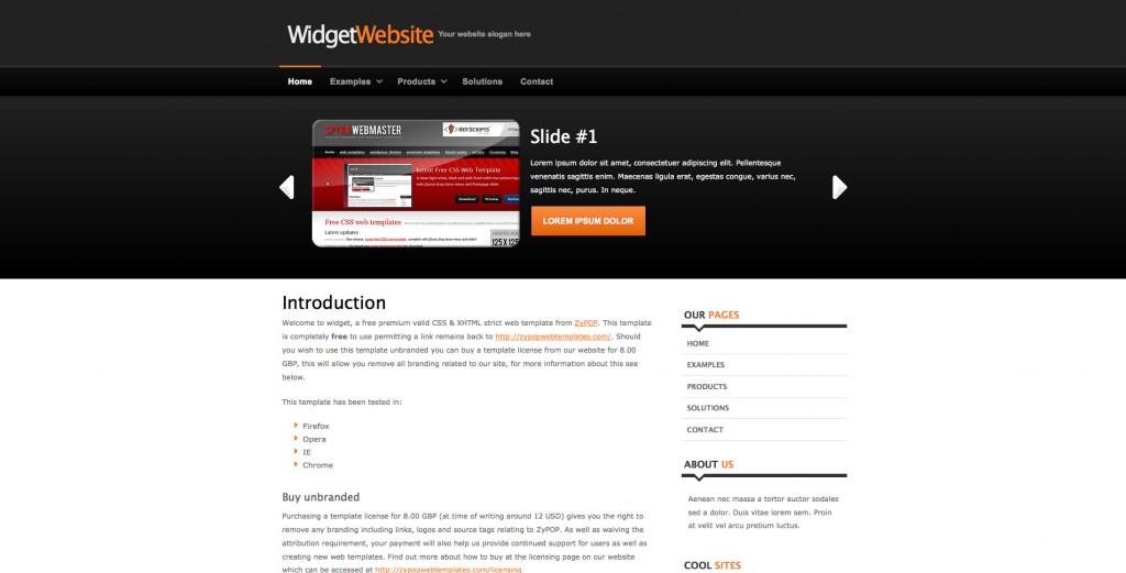 widget - Free CSS Template by ZyPOP