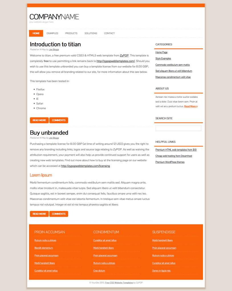 titian - Free CSS Template by ZyPOP