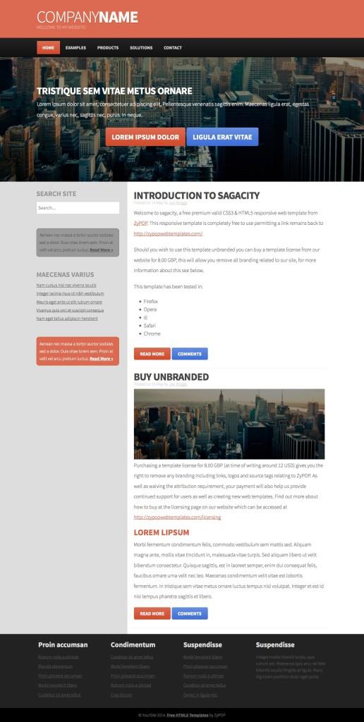 sagacity - a free css3 template